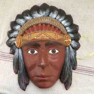 Other - Southwestern American Indian Metal Painted Mask